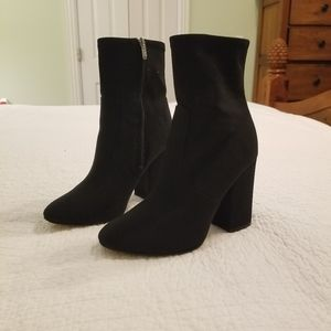 Sparkly Black Boots